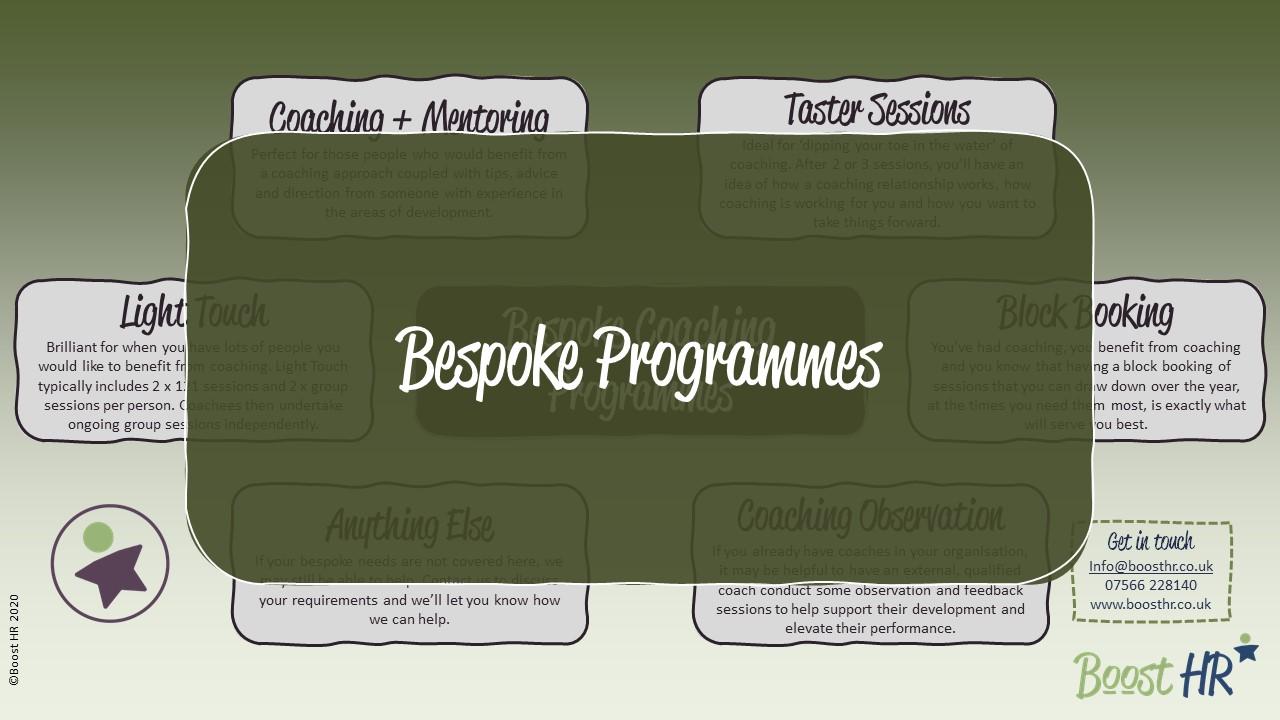 Coaching - Bespoke Programmes