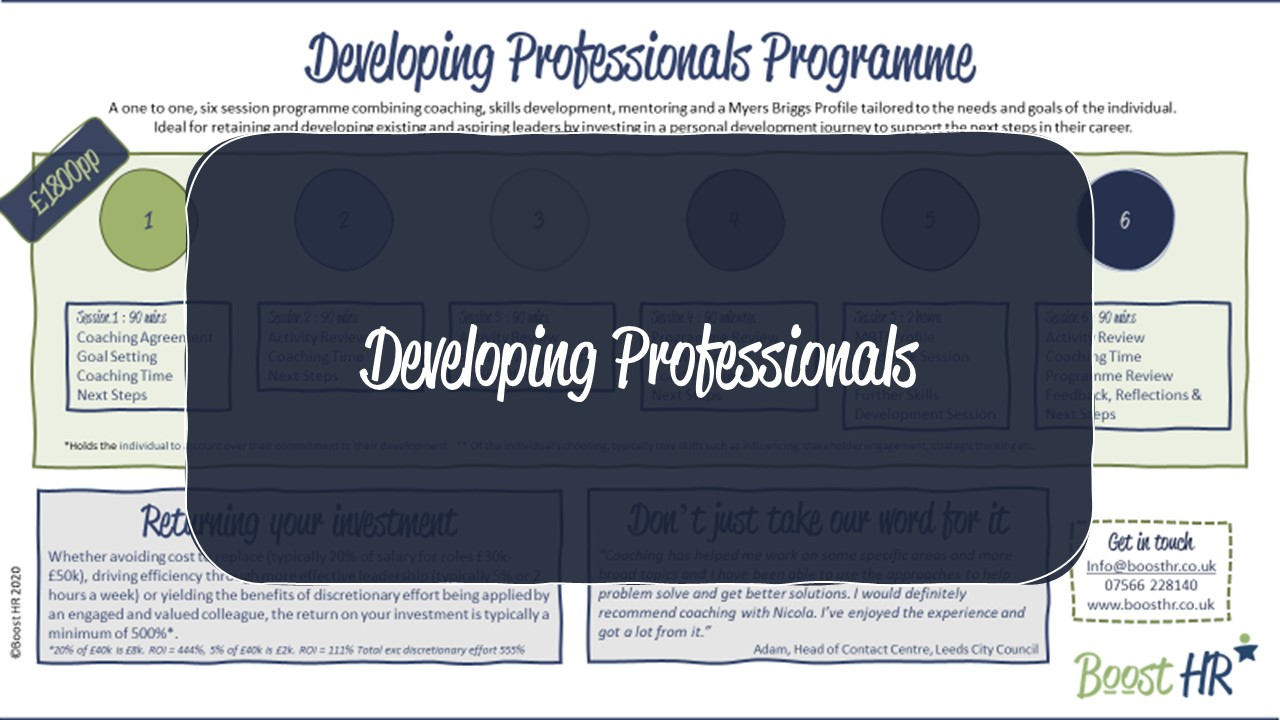 Coaching - Developing Professionals Programme
