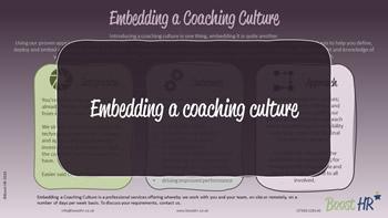 Coaching - Embedding a Coaching Culture